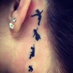 Peter Pan behind the ear #TATTOO #art