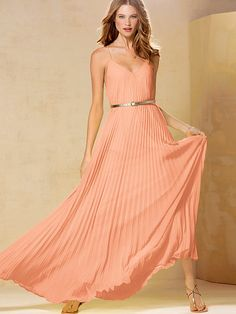 Knife-pleat Maxi