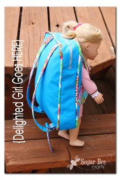 backpack that has a doll harness!