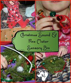 Christmas Sound & Fine Motor Sensory Bin - 3Dinosaurs.com