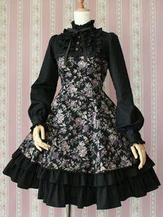 Victorian Maiden » One Piece » Antique Rose Puff Sleeve Dress