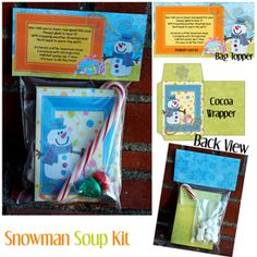 Snowman Soup/Coco/Bag Topper Kit - Printable