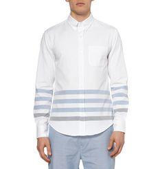 Band of OutsidersStriped Cotton Oxford Shirt