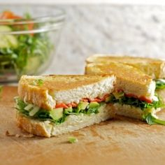 Grilled Cheese - provolone, avocado, arugula, roasted red pepper More