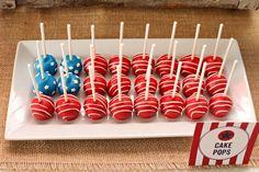flag inspired cake pops