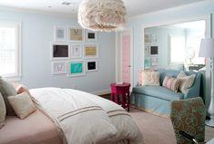 Gallery Wall: Framed designer bags. Kristin Peake Interiors, LLC.