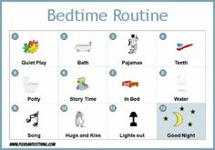Bedtime routine for preschoolers (with printable)