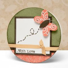 """With Love"" card idea from #CTMH."