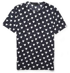 Burberry Prorsum Heart-Print Cotton T-Shirt