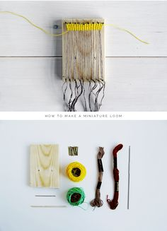 Fall For DIY How to make a miniature loom