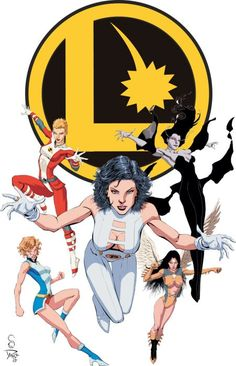 the women of the Legion, cover, Crazy on Comics, Legion of Super Heroes, Phantom Girl