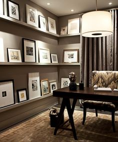 Gallery wall in home office