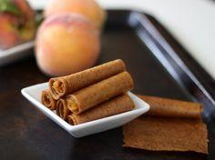 Peaches & cream fruit leather - a no sugar snack for kids! kid food, sugar snack, jack kid, peach