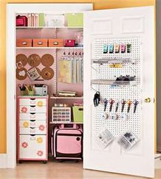 What a great way to utilize a closet! And you can shut the door when you need to :)