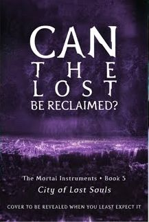 City of Lost Souls Book #5 The Mortal Insturments by Cassandra Clare.  May should be a good month.