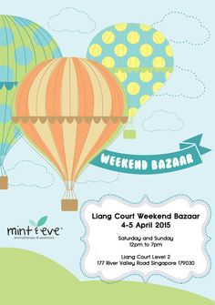 Find us this Saturday and Sunday (4-5 April 2015) at the Weekend Bazaar at Liang Court Level 2, 12pm to 7pm. ‪#‎LiangCourt‬ ‪#‎WeekendBazaar‬