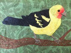 Beautiful bird embroidery