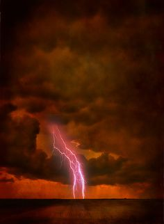 Lightning at the end of the day!
