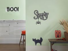 Boo! Ghosts Wall Decal, Wall Sticker, and Wall Decor.