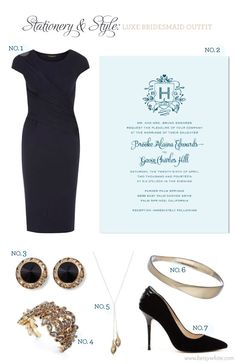 Stationery & Style: Luxe Bridesmaid Outfit