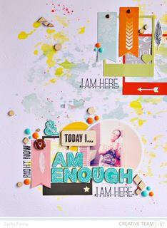 Today I am Enough *Studio Calico* by Sasha at Studio Calico  #scrap