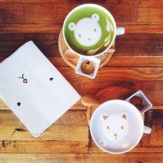 Cafe Maji in Acadia, CA. Cutest lattes! // via Instagram @ bonnietsang