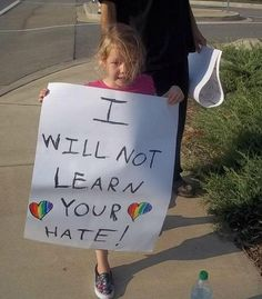 Children resist adult oppression by refusing to learn heterosexism, sexism, racism, ableism, classism, and ageism. little girls, go girls, hate, life lessons, inspir, children, equal, human, kid