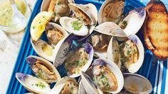 Grilled Clams with W