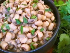 Slow Cooker Vegetarian Black-Eyed Peas for good luck in the new year!  (From Budget Bytes via Slow Cooker from Scratch.)