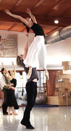 Zuzana Simakova, Michal Stipa Cinderella rehearsal