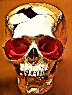 "Skull art: digital rendering ""Skullz_Golden"" by rajasegar chandiran Pondicherry, India 2013-11 via Behance 12489325"