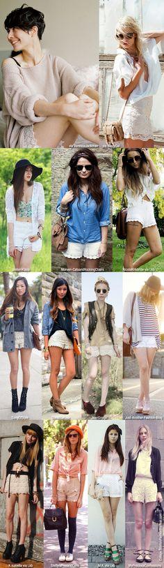 Inspiration: White Crochet Shorts!