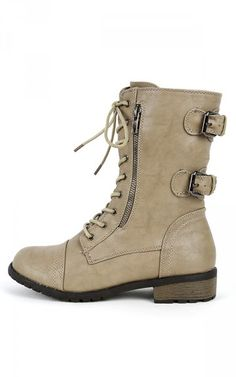 Mango-61 Lace Up Buckle Ankle Boots