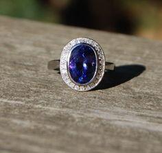 LA VIOLETTE  Tanzanite Diamond Gold Ring by EidelPrecious on Etsy, $1750.00