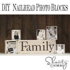 DIY Nailhead Photo Blocks by jodie