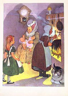 lewi carrol, alic adventur, alice in wonderland, illustr, aliceinwonderland, children print, antiqu children, lewis carroll, marjori torrey