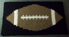 Crochet Tapestry Football Mat, http://crochetjewel.com/?p=10606