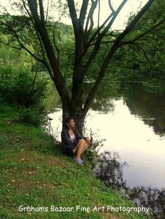 Calmness by the River (1 of 5) Self Portrait Series #3 Nature Photography Fine Art River Trees Forest View Home Wall Decor  11'' x 14'' by GrahamsBazaar, $150.00