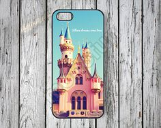 where dreams come true iPhone 5s case iPhone5 case iPhone5c case iPhone4s case iPhone4 case disney iPhone cases disney castle -85 on Etsy, $6.99