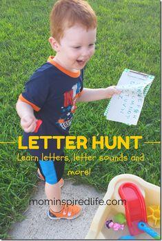 Outdoor Letter Hunt - Mom Inspired Life