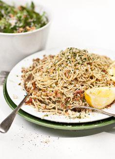 Lemon, Chilli and Bacon Spaghetti - #spaghetti