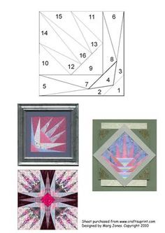 Quilt Square 012 Iris Folding Pattern