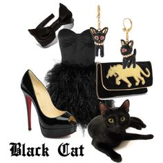 How to dress like your cat...  Black Cat Fashion