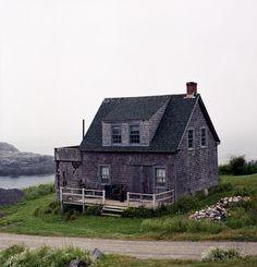 Shingled cottage on Monhegan Island, 12 miles off the coast of Maine.By Jonathan Levitt.