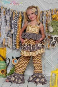 Kikis Extra Ruffled Top PDF Sewing Pattern by Create Kids Couture