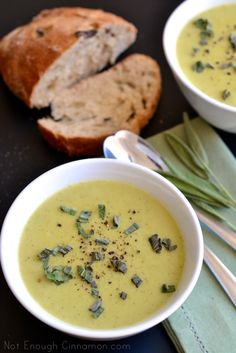 Skinny Cream of Zucchini Soup