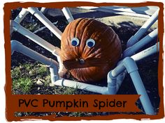 PVC Pumpkin Spider + Tutorial