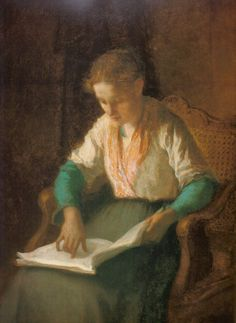Girl Reading (1853) by William Morris Hunt.