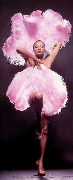Diana Ross - pink feathers