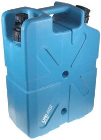 Lifesaver Jerrycan - portable water filtration system.  Filter water for 4 for a year.  5 gal.